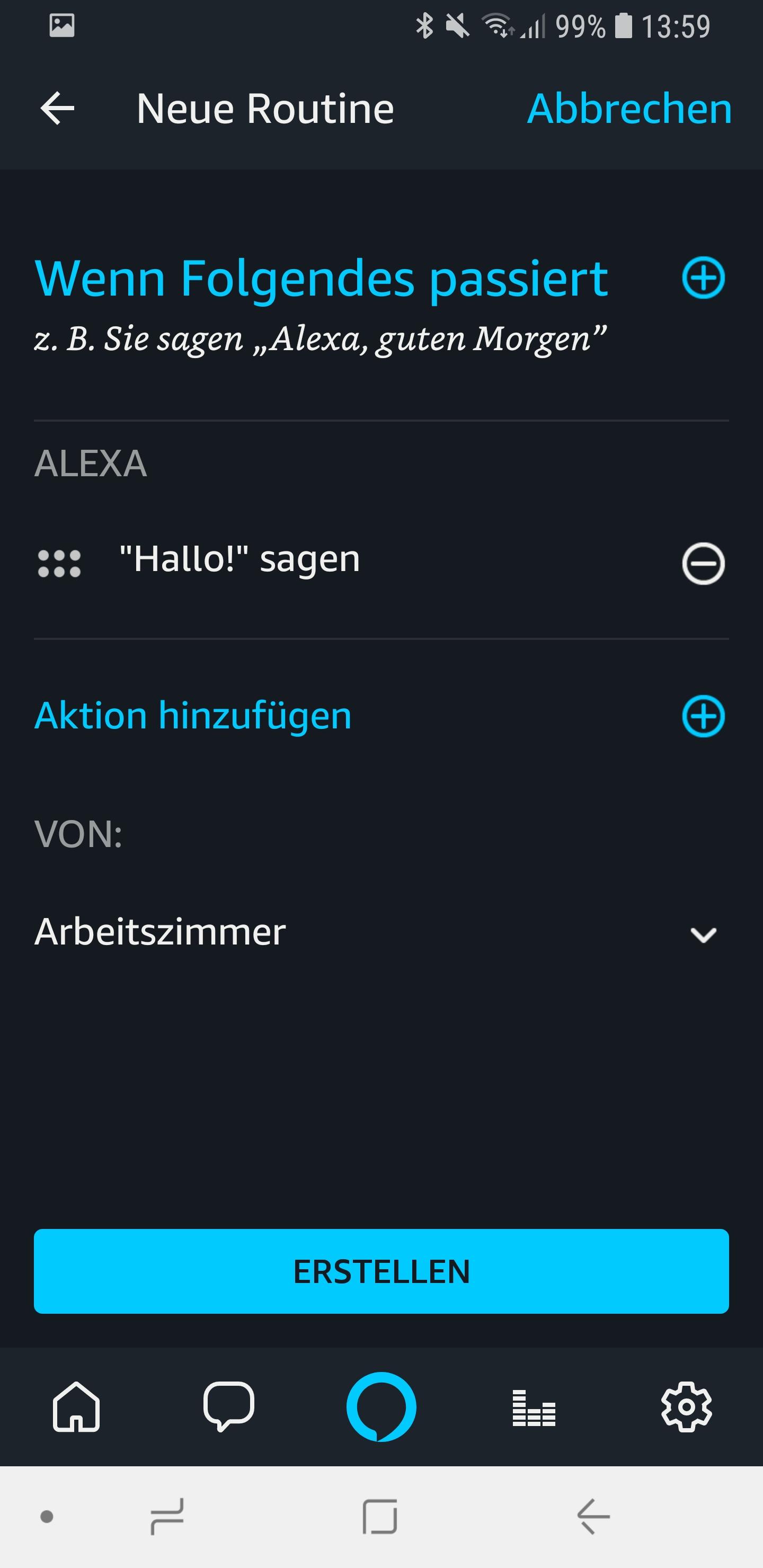 Alexa sagt 09