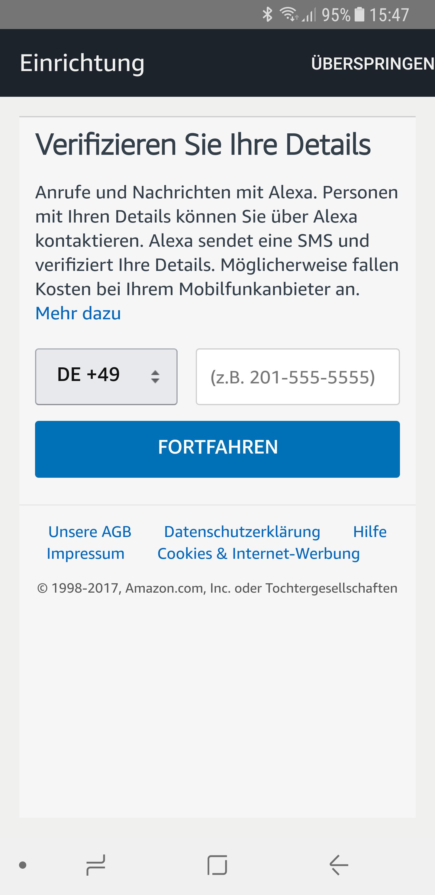 Alexa Telefonfunktion einrichten 4