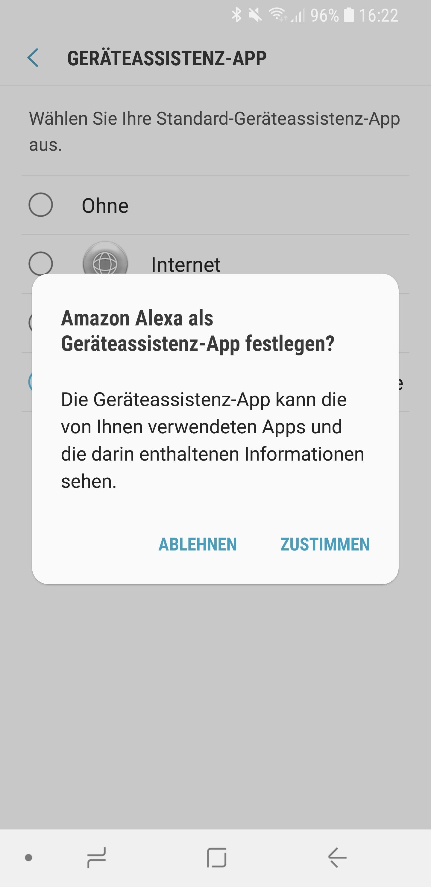 Amazon Alexa als Standard Sprachassistent auf Smartphone 06