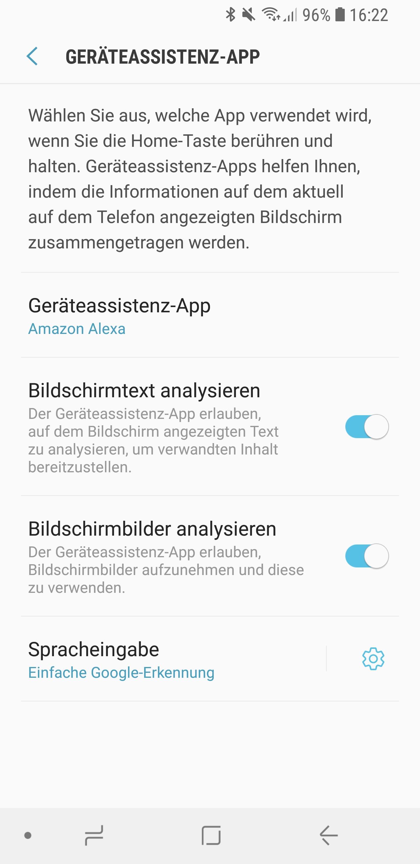 Amazon Alexa als Standard Sprachassistent auf Smartphone 07