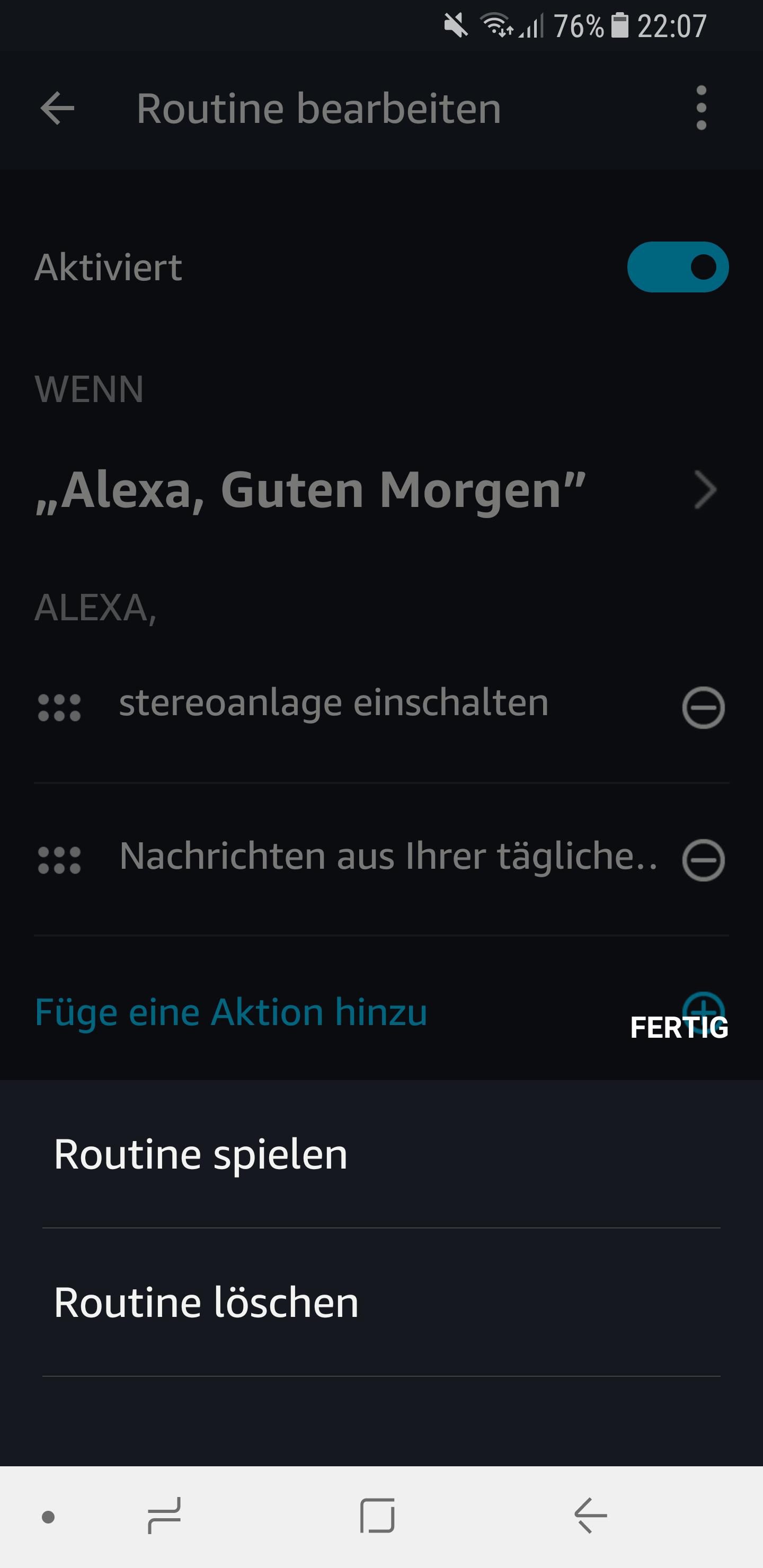 Routinen in der Amazon Alexa App einrichten und nutzen 20