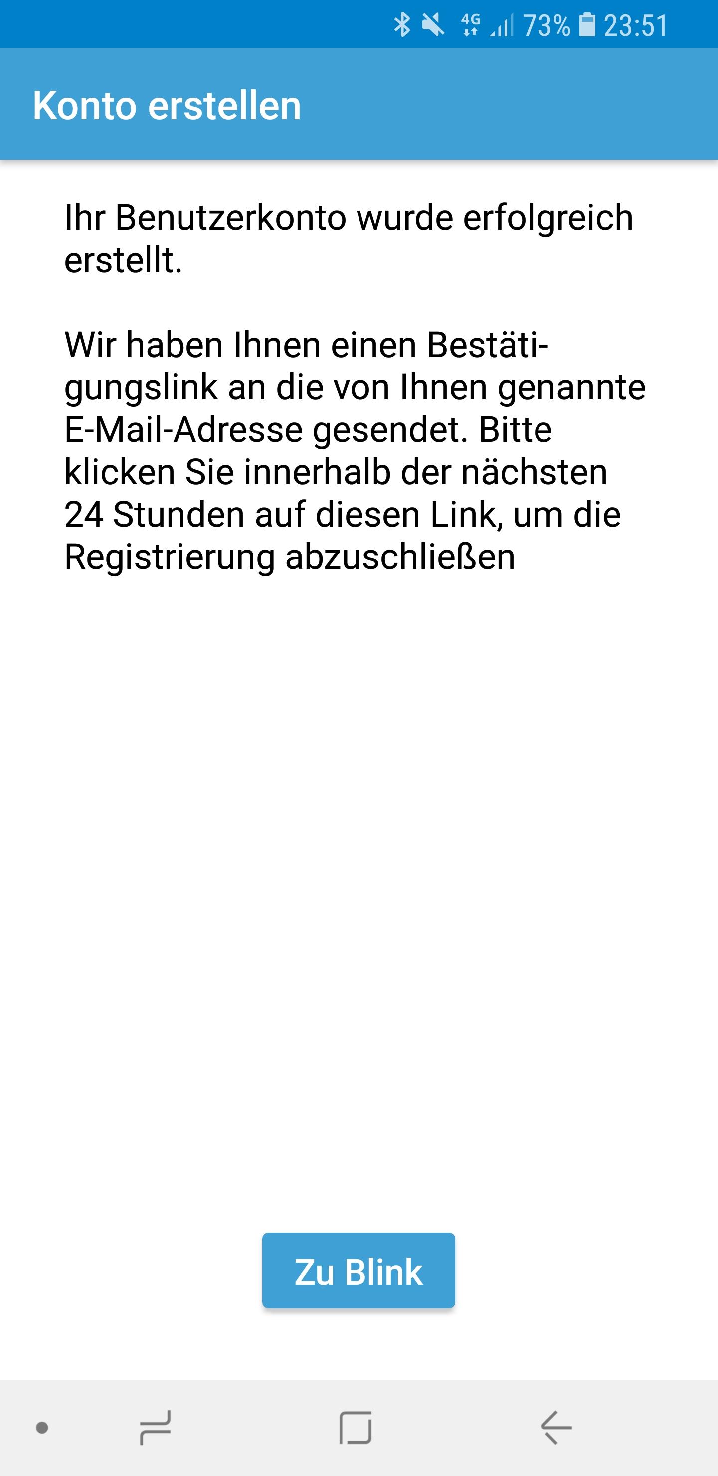 Blink Account erstellen 05