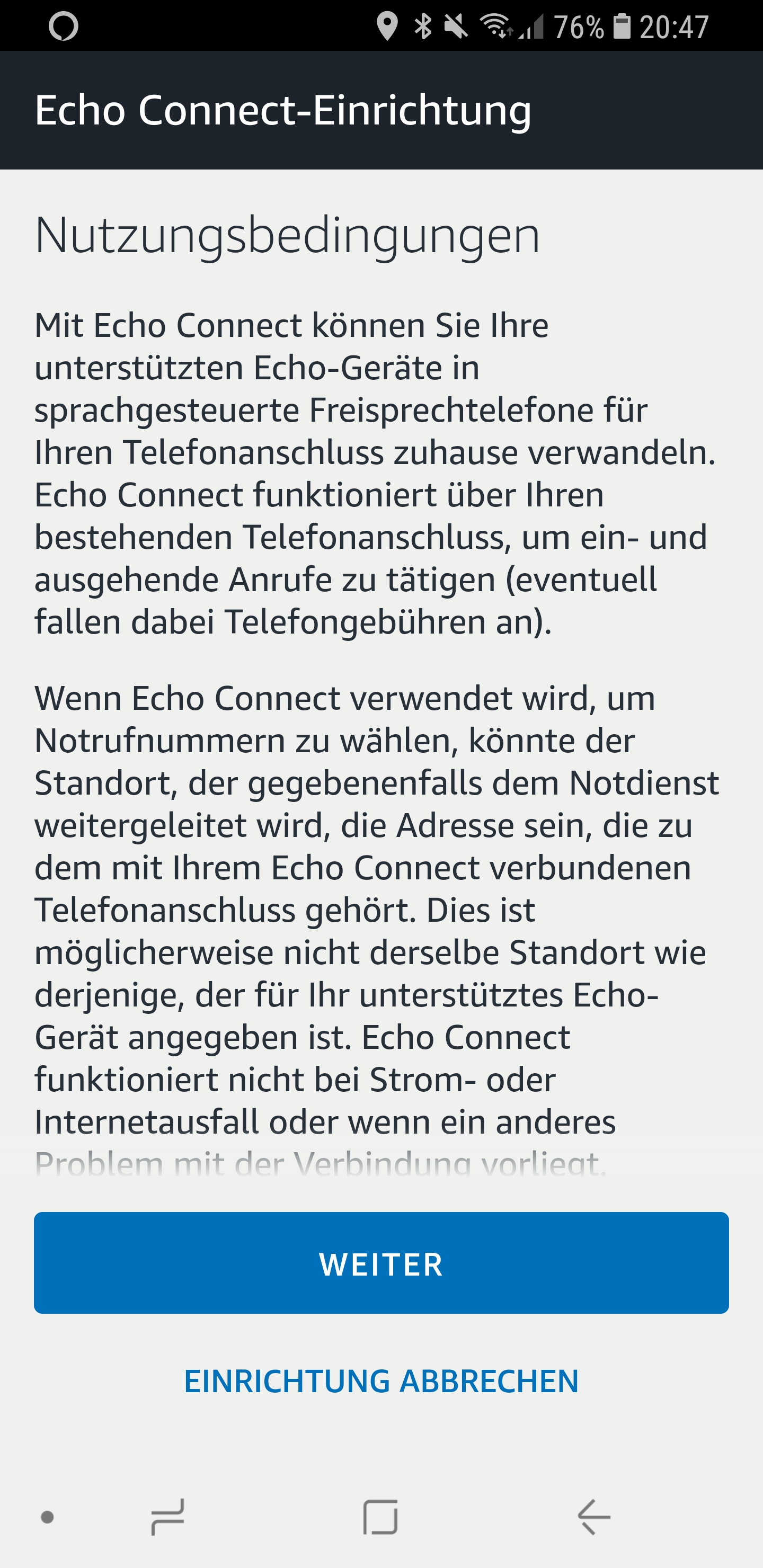 Den Echo Connect einrichten 03