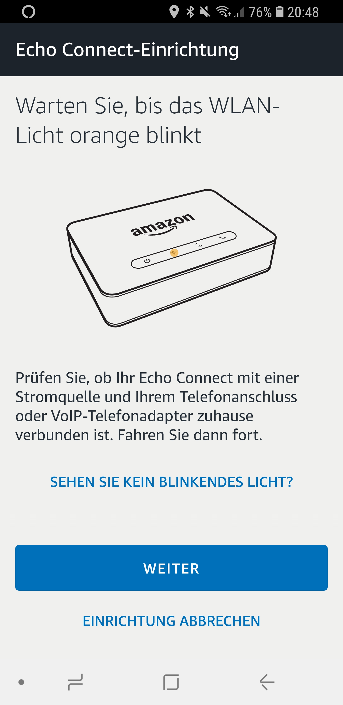 Den Echo Connect einrichten 07