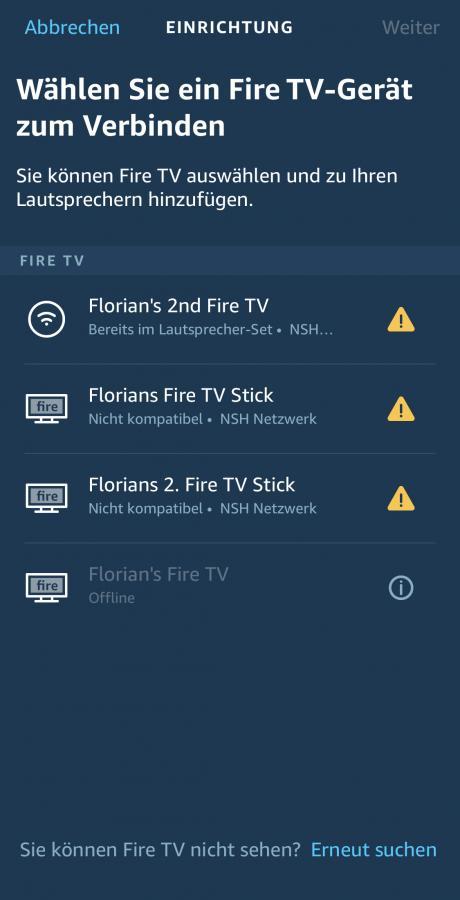 Fire TV Gerät hinzufügen