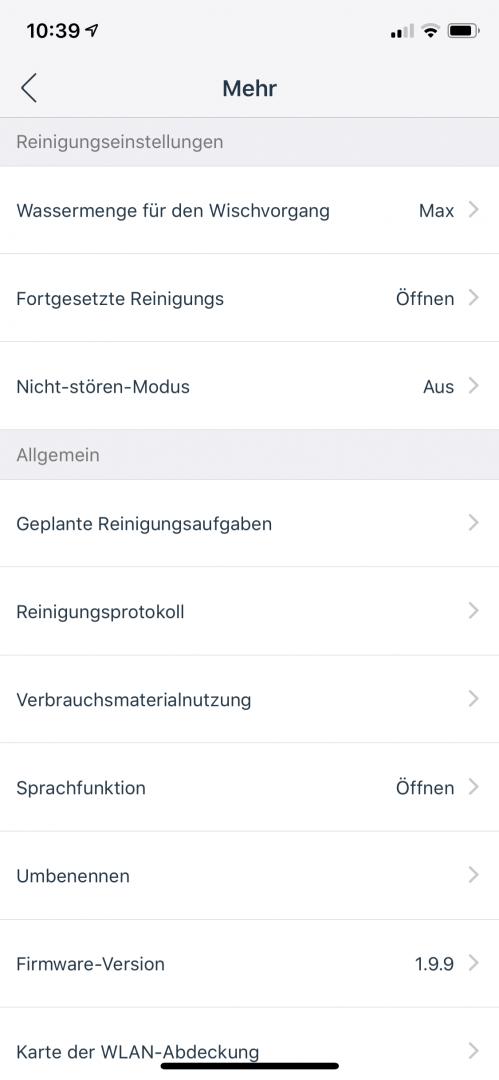 App-Einstellungen