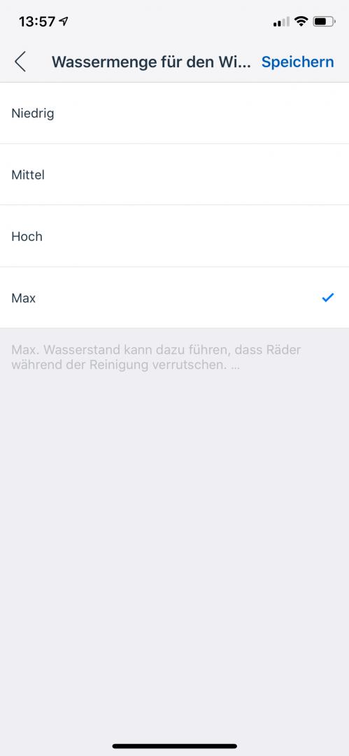 App-Wischleistung