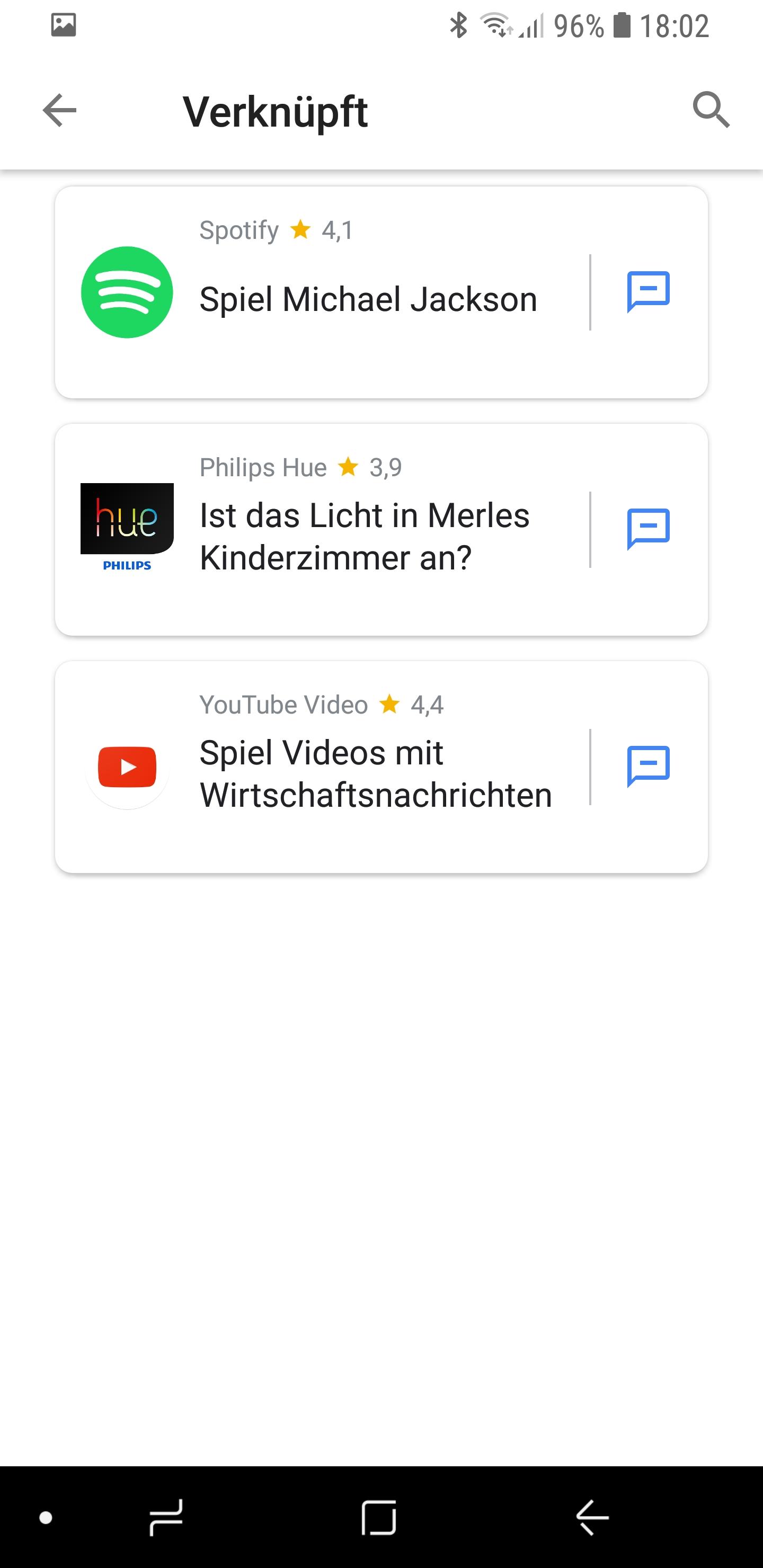 Google Actions Übersicht aufgelistet 05