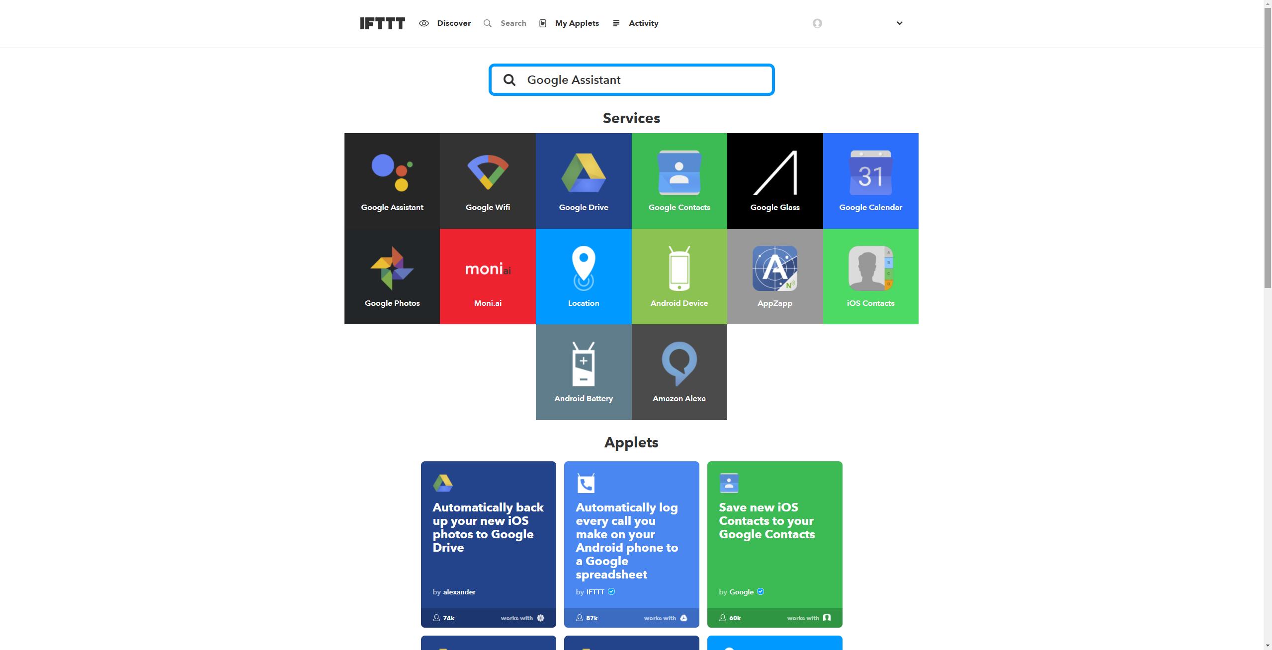 IFTTT-Google-Assistant-hinzufügen-1