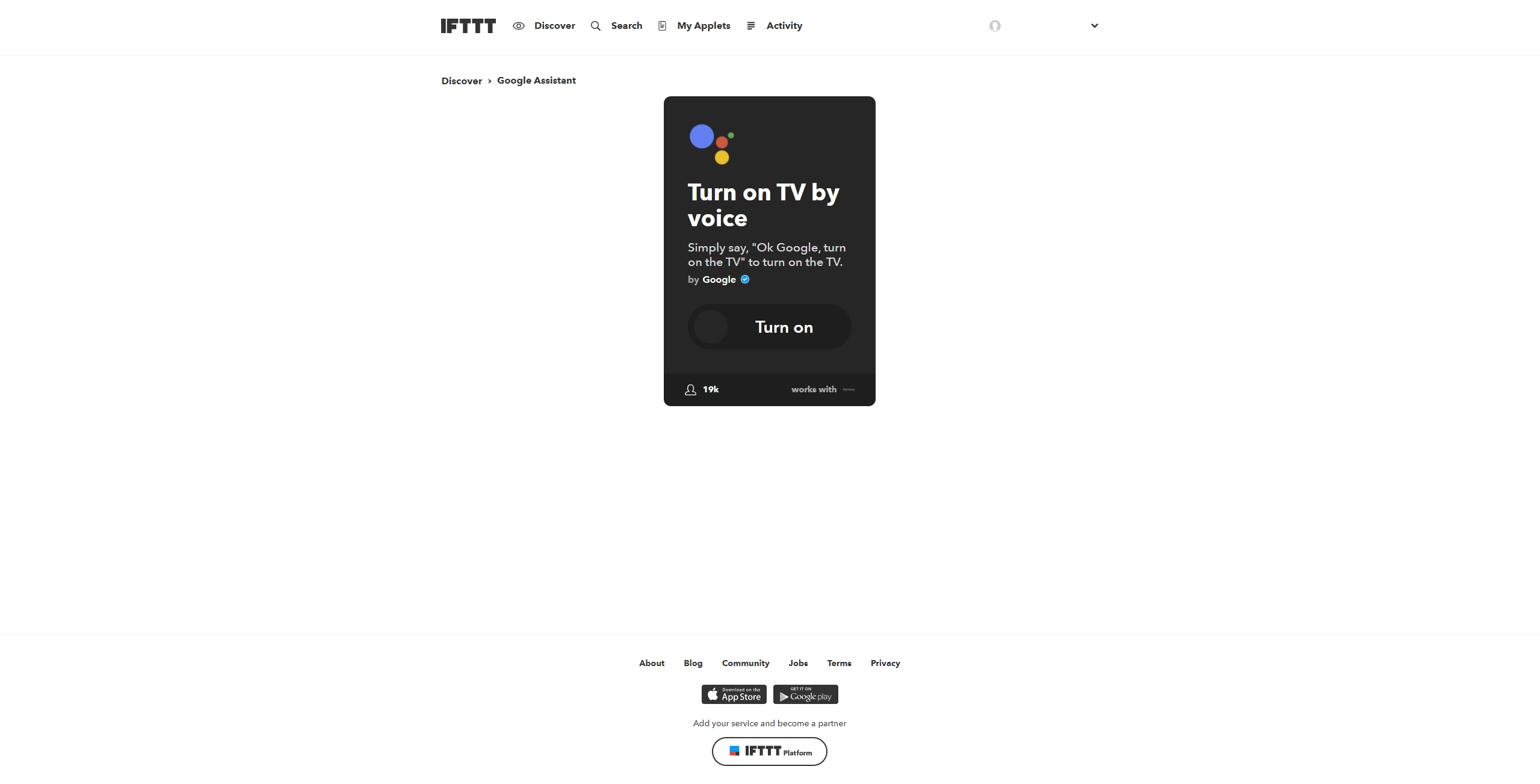 IFTTT-Google-Harmony-Applet-1