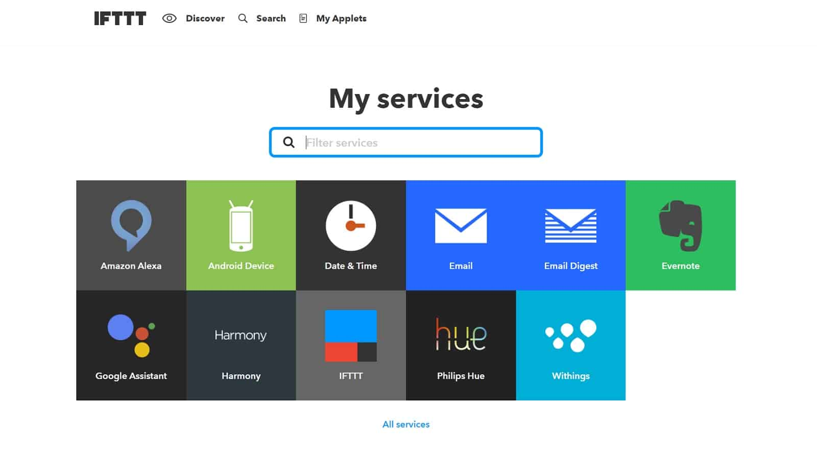 IFTTT-my-Services