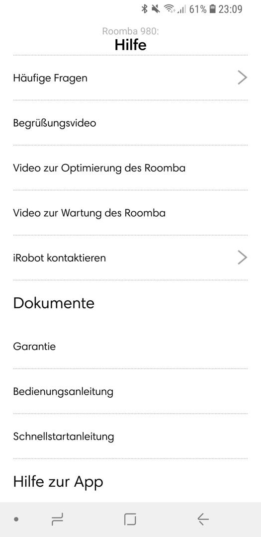 iRobot Roomba 980 App Details 14