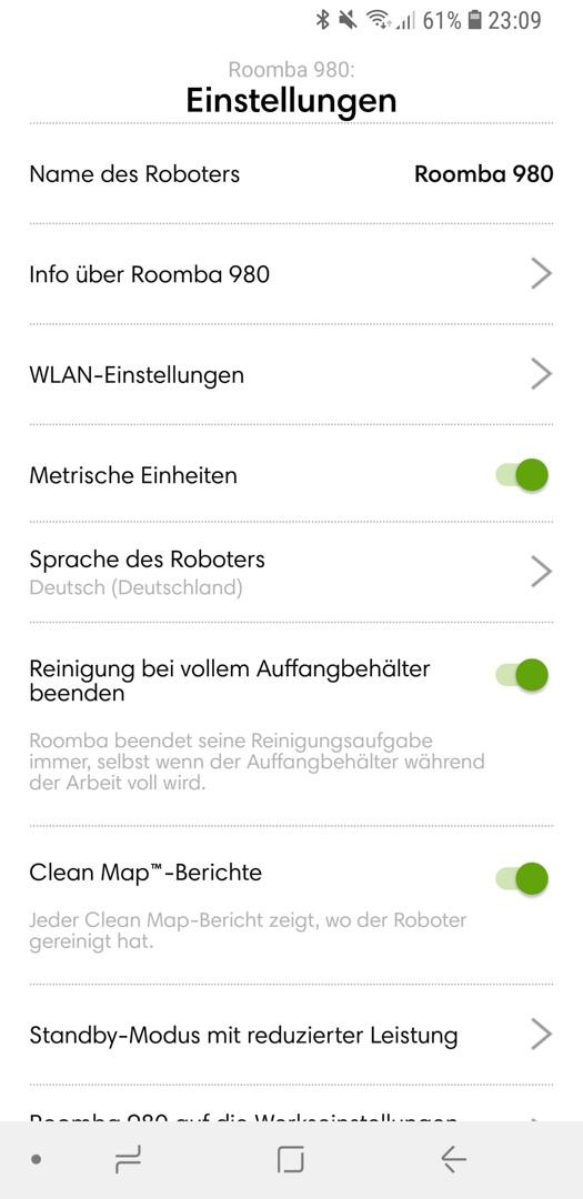 iRobot Roomba 980 App Details 15