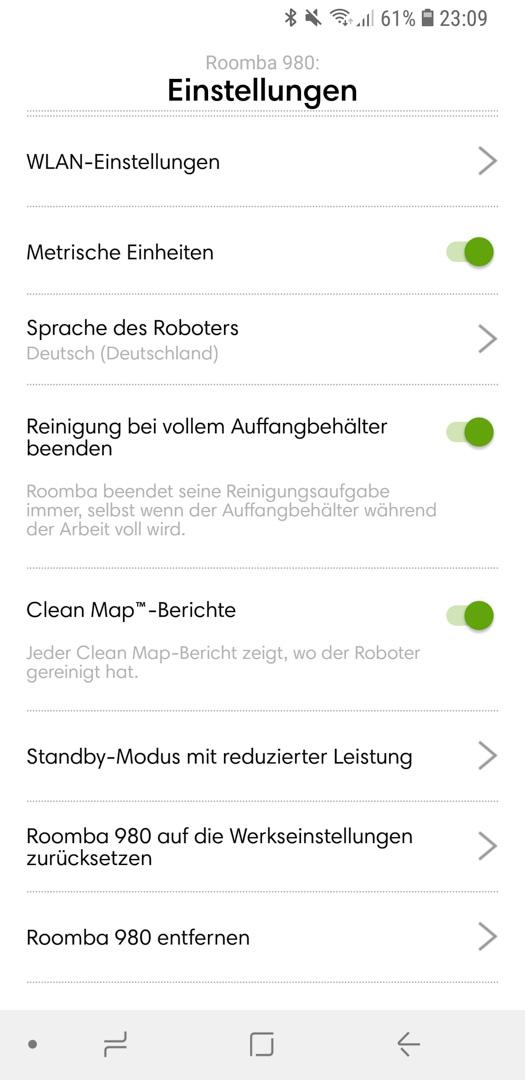 iRobot Roomba 980 App Details 16