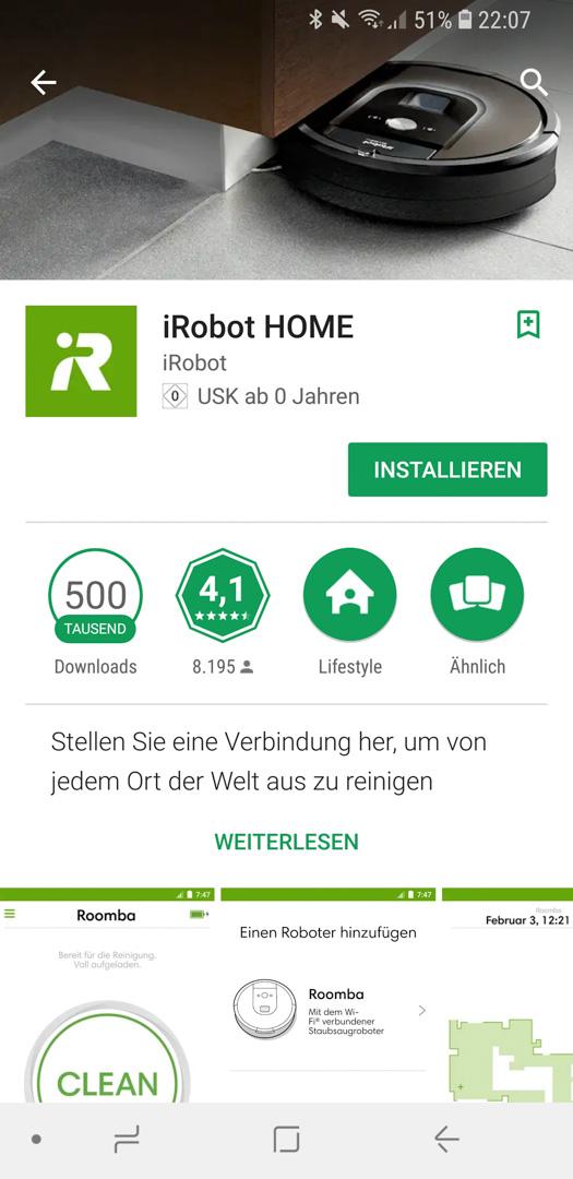 iRobot Roomba 980 App installieren 01