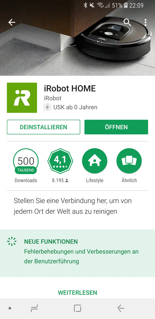 iRobot Roomba 980 App installieren 02