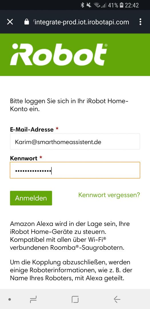 iRobot Roomba mit Alexa 12