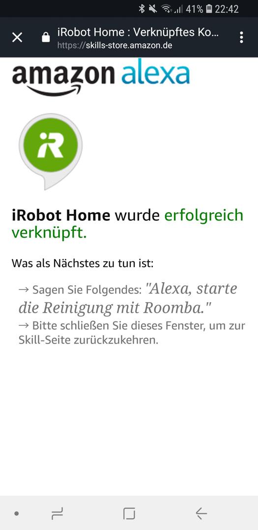 iRobot Roomba mit Alexa 13