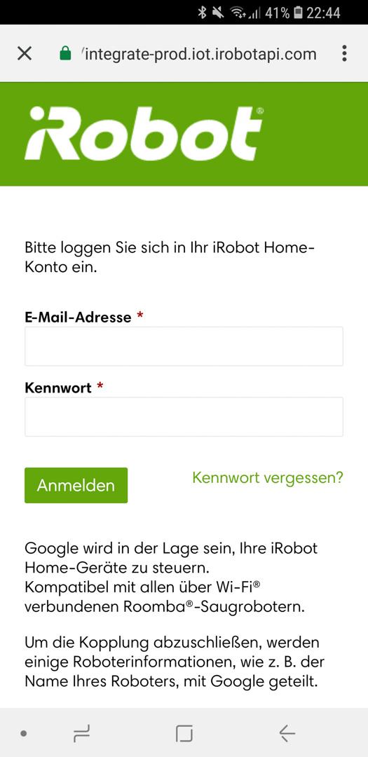 iRobot Roomba mit Google 11