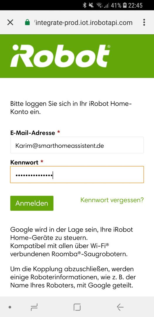 iRobot Roomba mit Google 12
