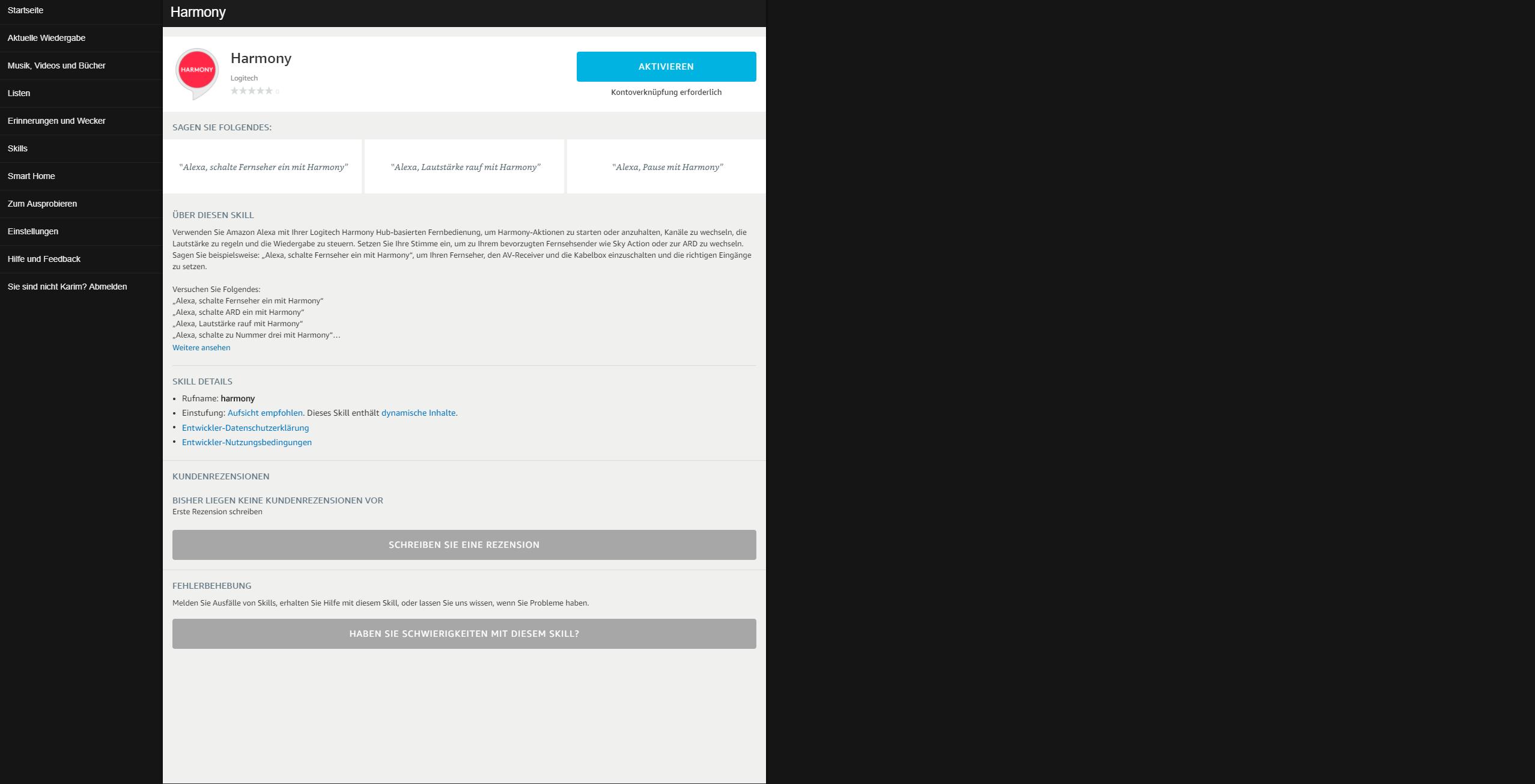 Logitech-Harmony-Skill-für-Amazon-Alexa-einrichten-1