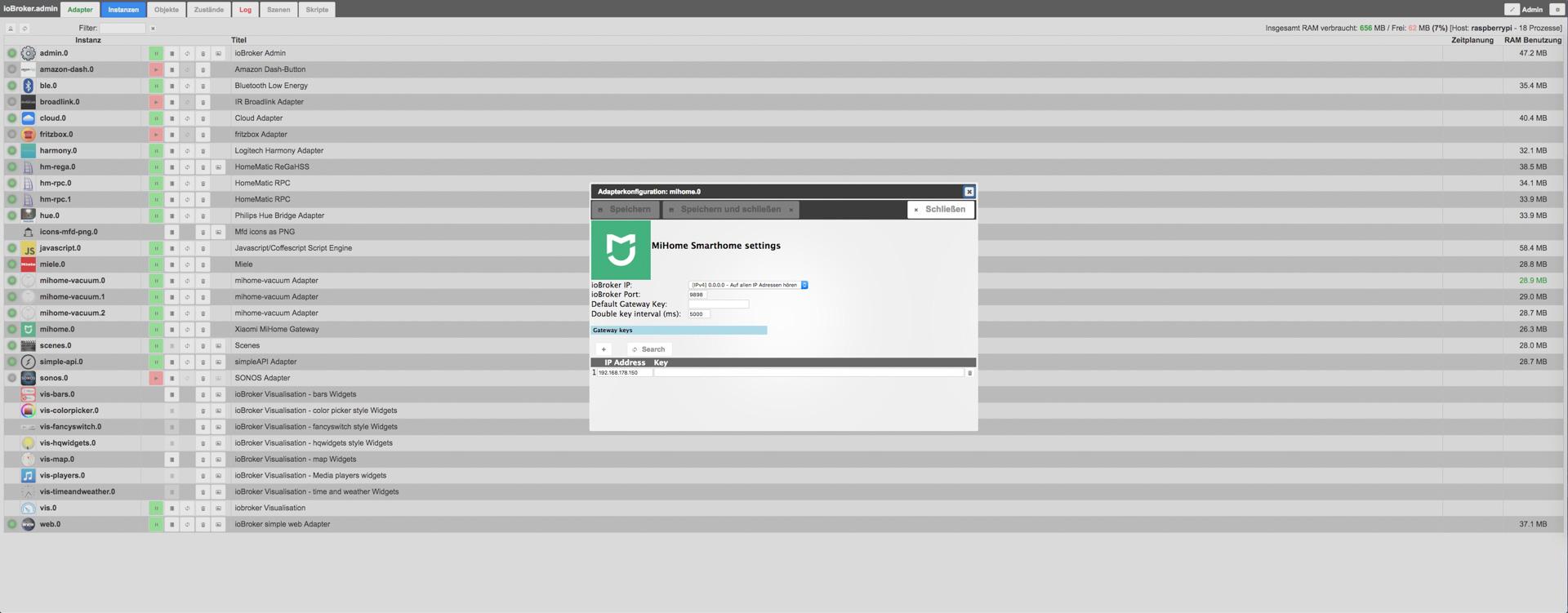 Mi Home Gateway ioBroker 02