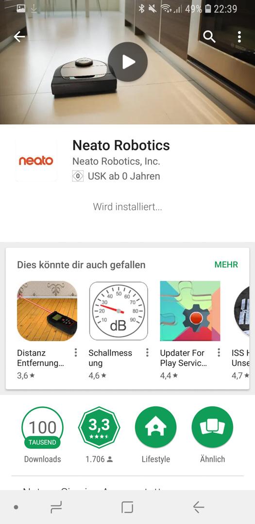 Neato Botvac D7 App installieren 02