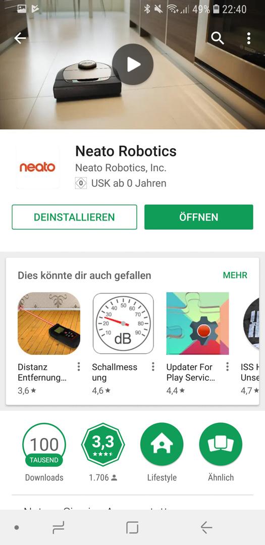Neato Botvac D7 App installieren 03
