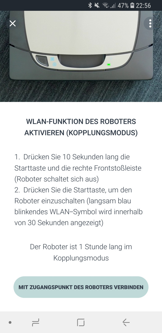 Neato Botvac D7 App Roboter hinzufügen 04