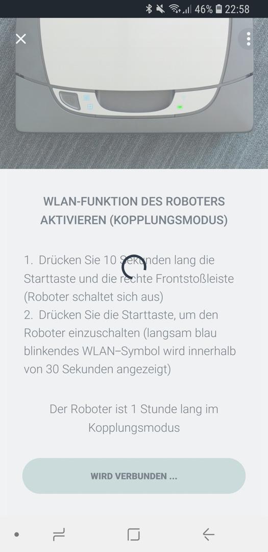 Neato Botvac D7 App Roboter hinzufügen 06