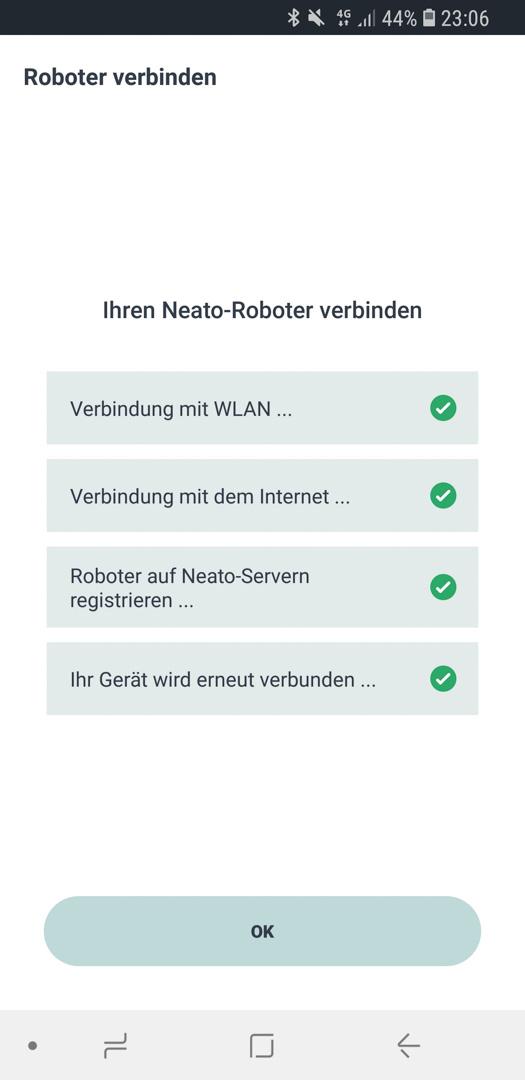 Neato Botvac D7 App Roboter hinzufügen 15
