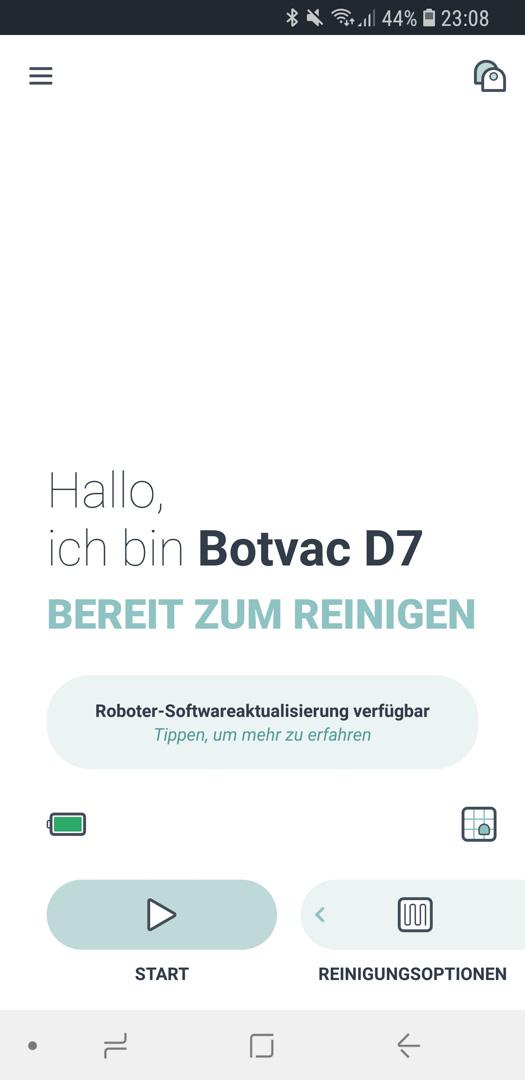 Neato Botvac D7 App Roboter Update 01