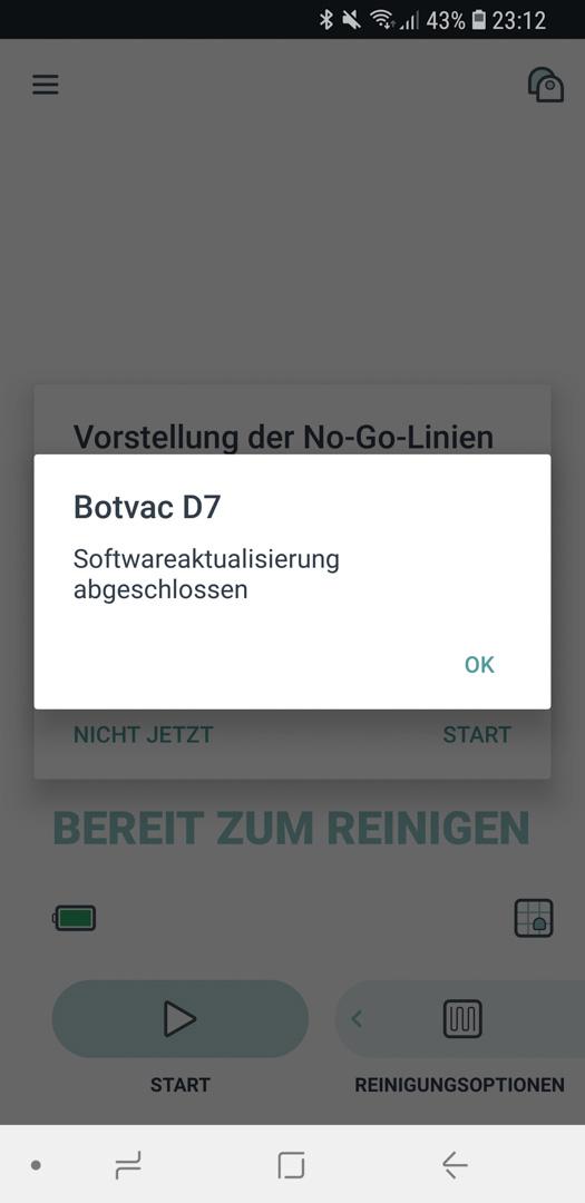 Neato Botvac D7 App Roboter Update 06