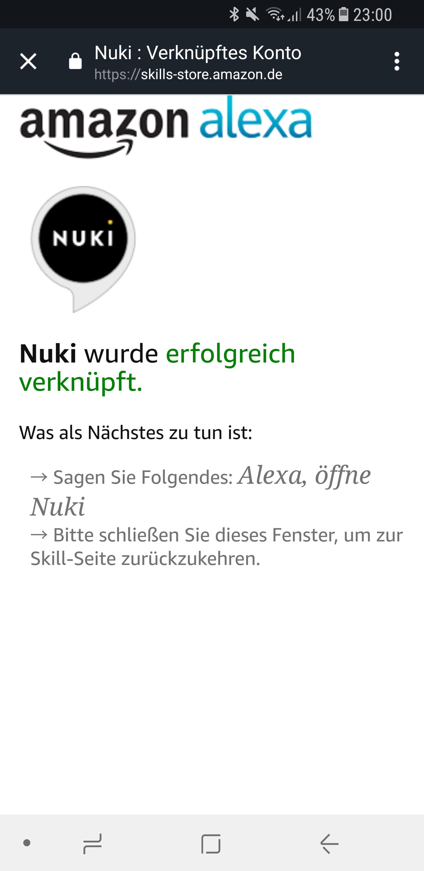 Nuki mit Alexa verbinden 14