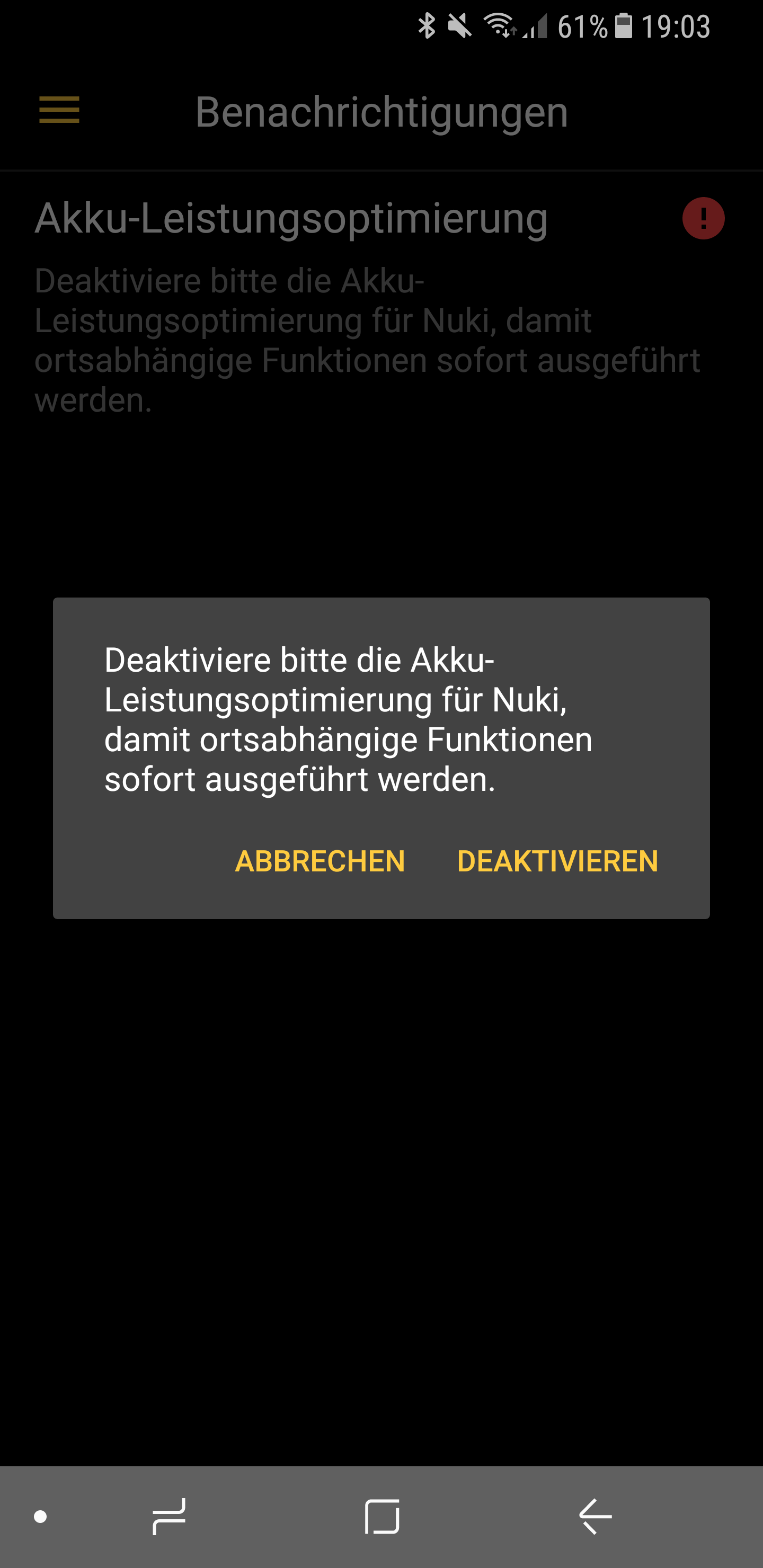 Nuki Update einrichten Screenshot 12