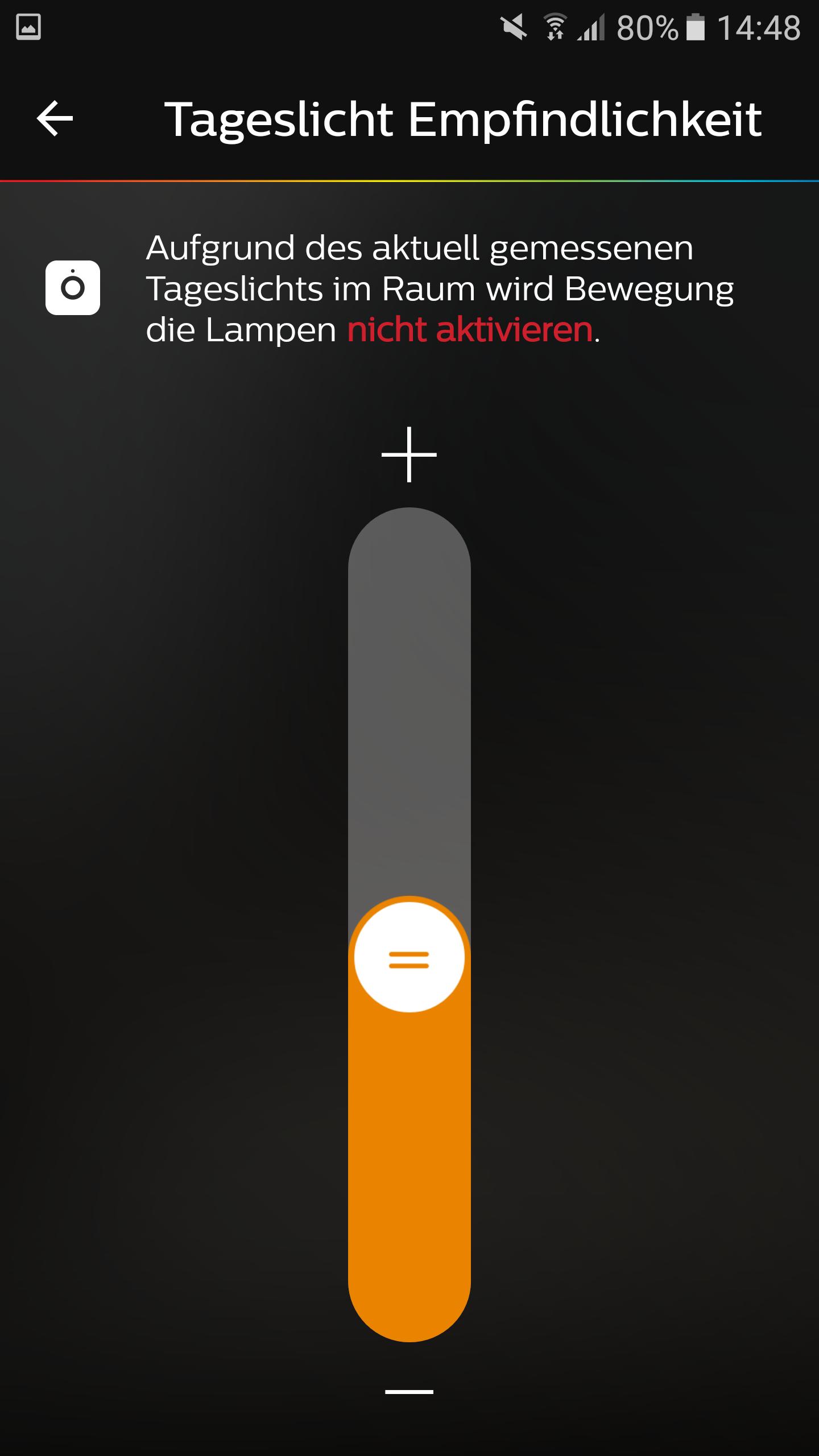 Philips-Hue-Bewegungsmelder-Lichtempfindlichkeit