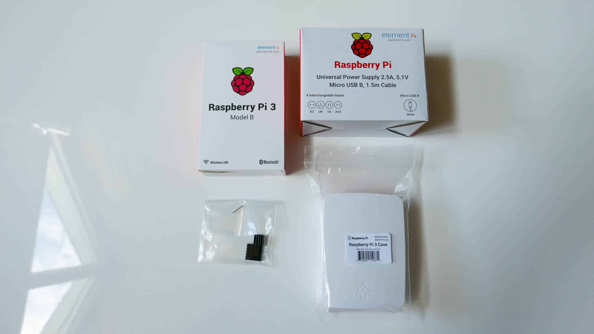 Raspberry-Pi-Verpackungen