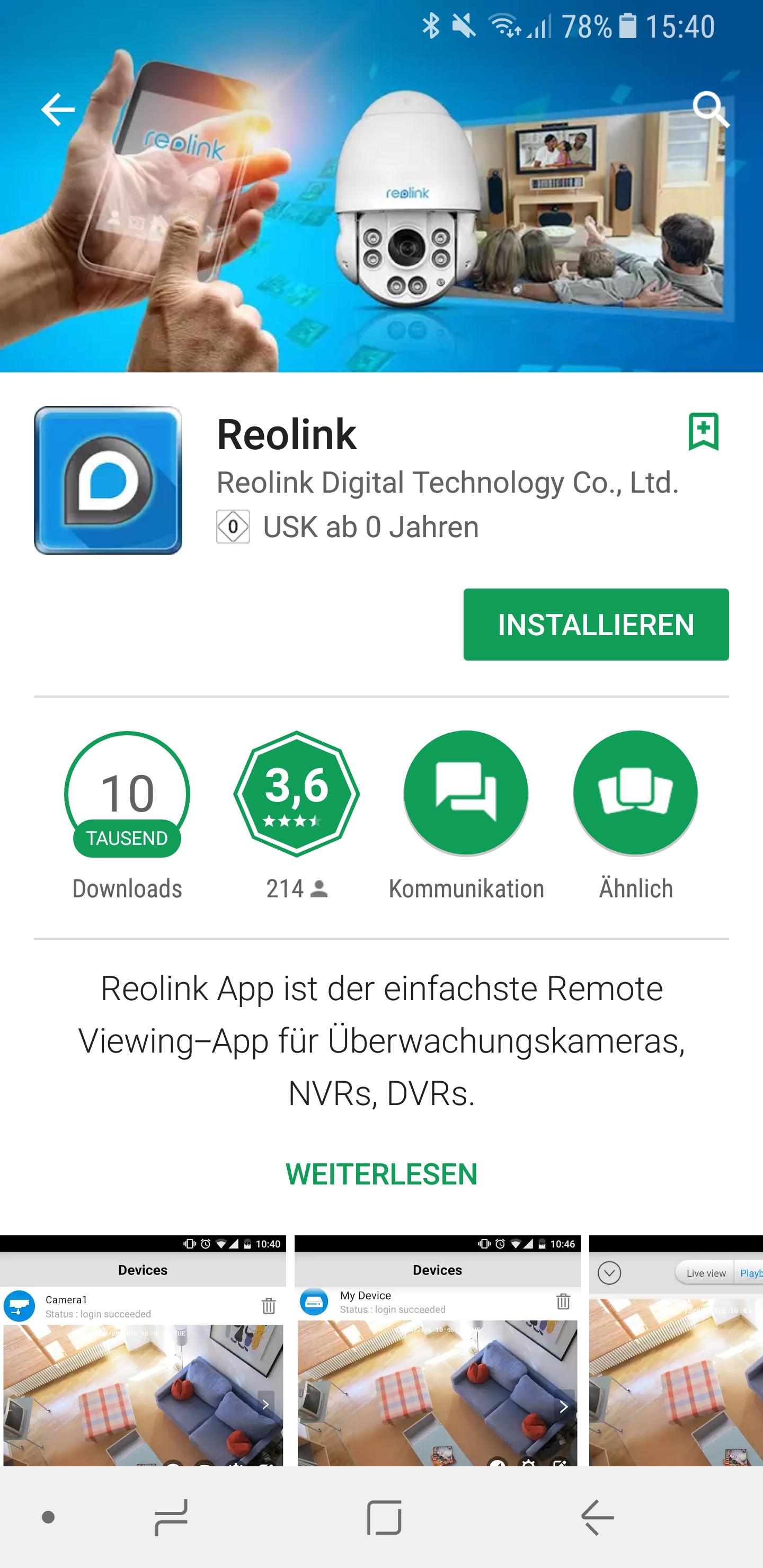 Reolink Kamera C1 Pro einrichten 1