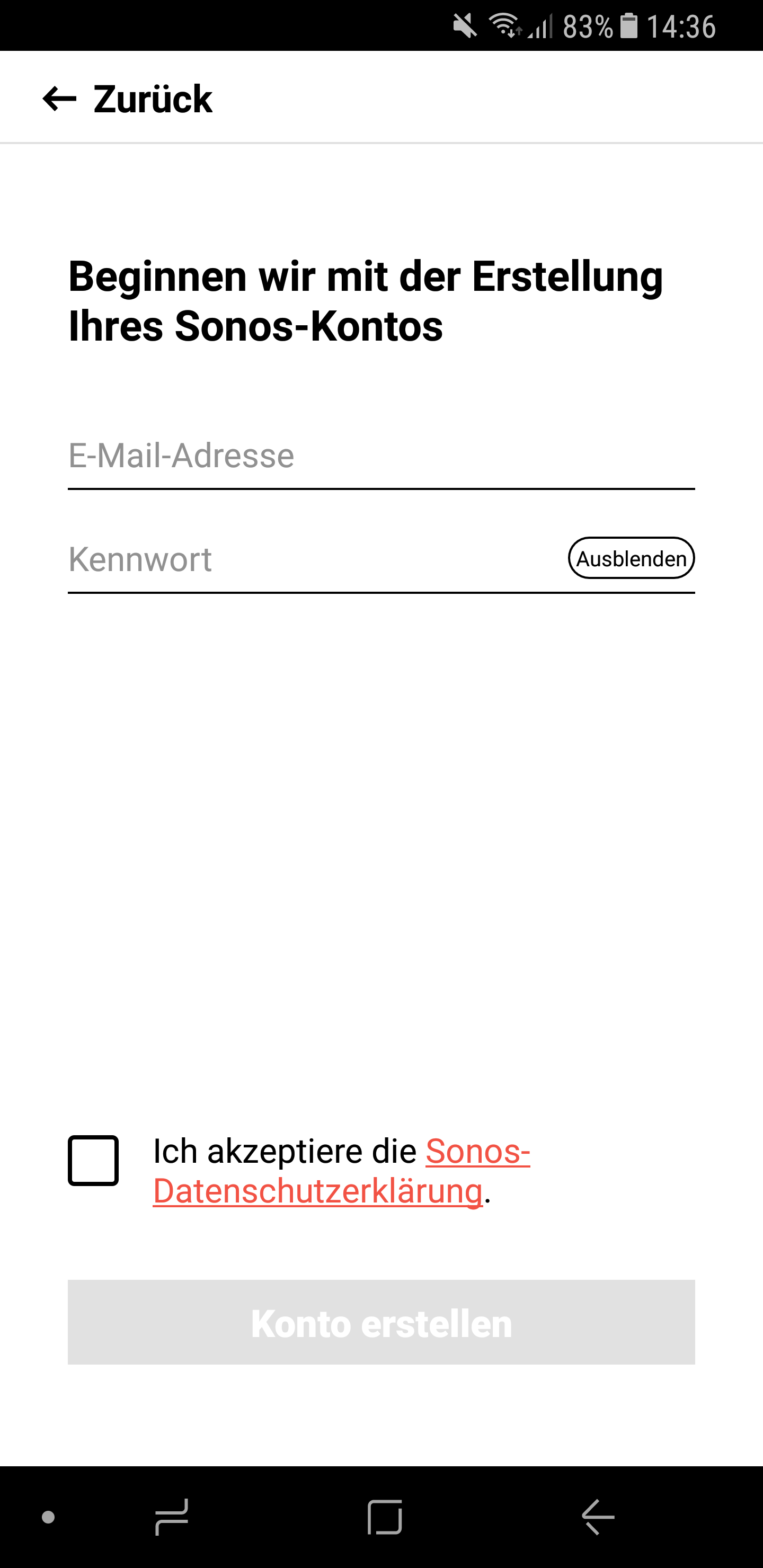 Sonos Anmeldung 7