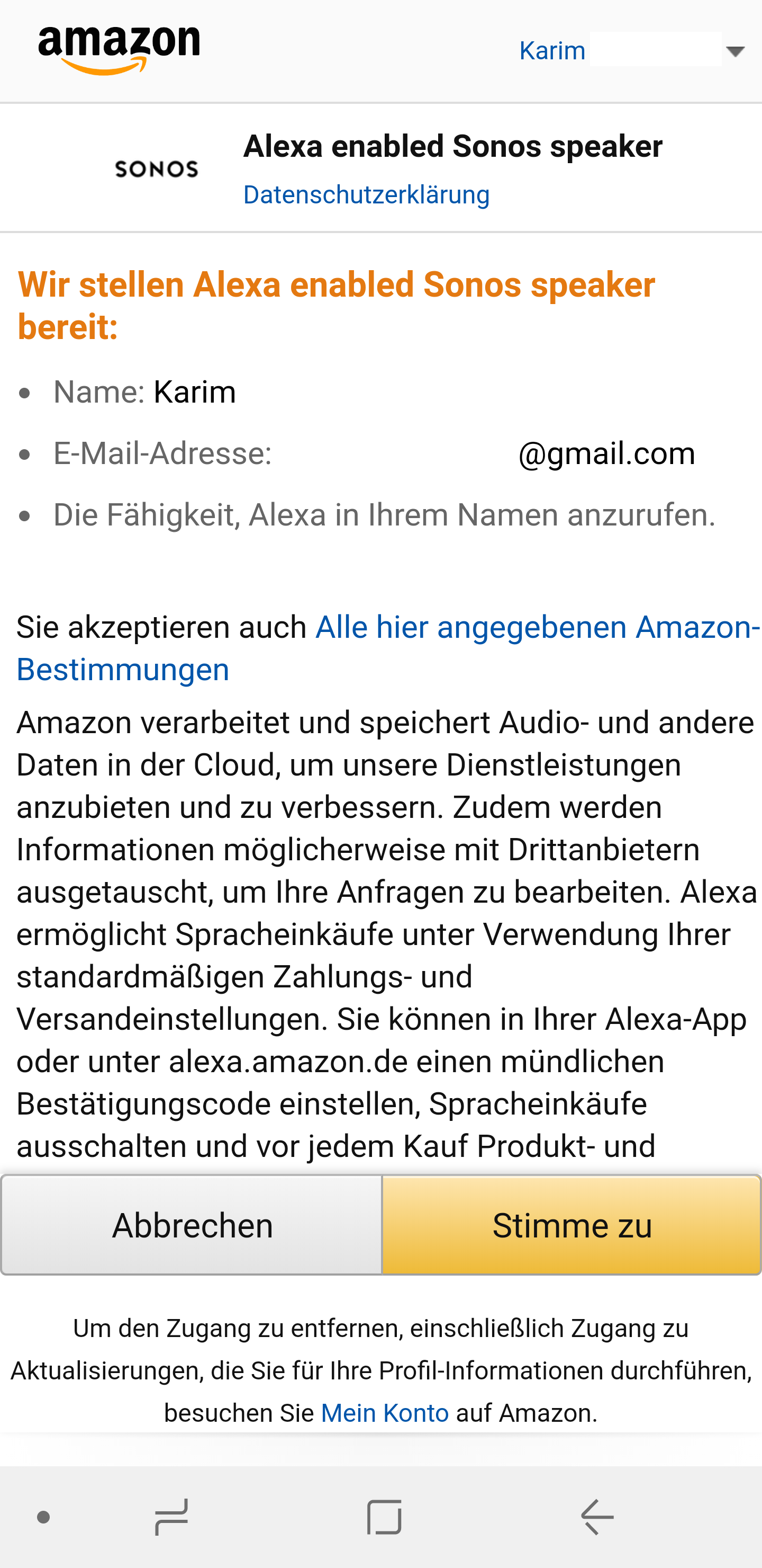 amazon mein profil