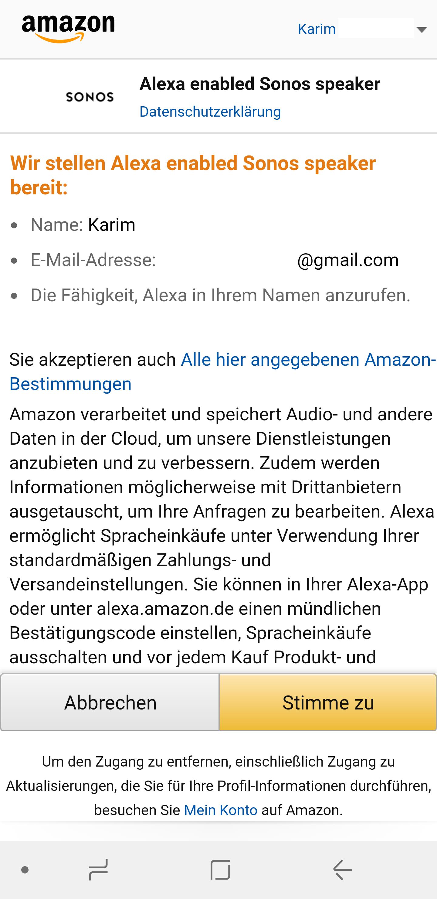 Sonos One Alexa einrichten 6