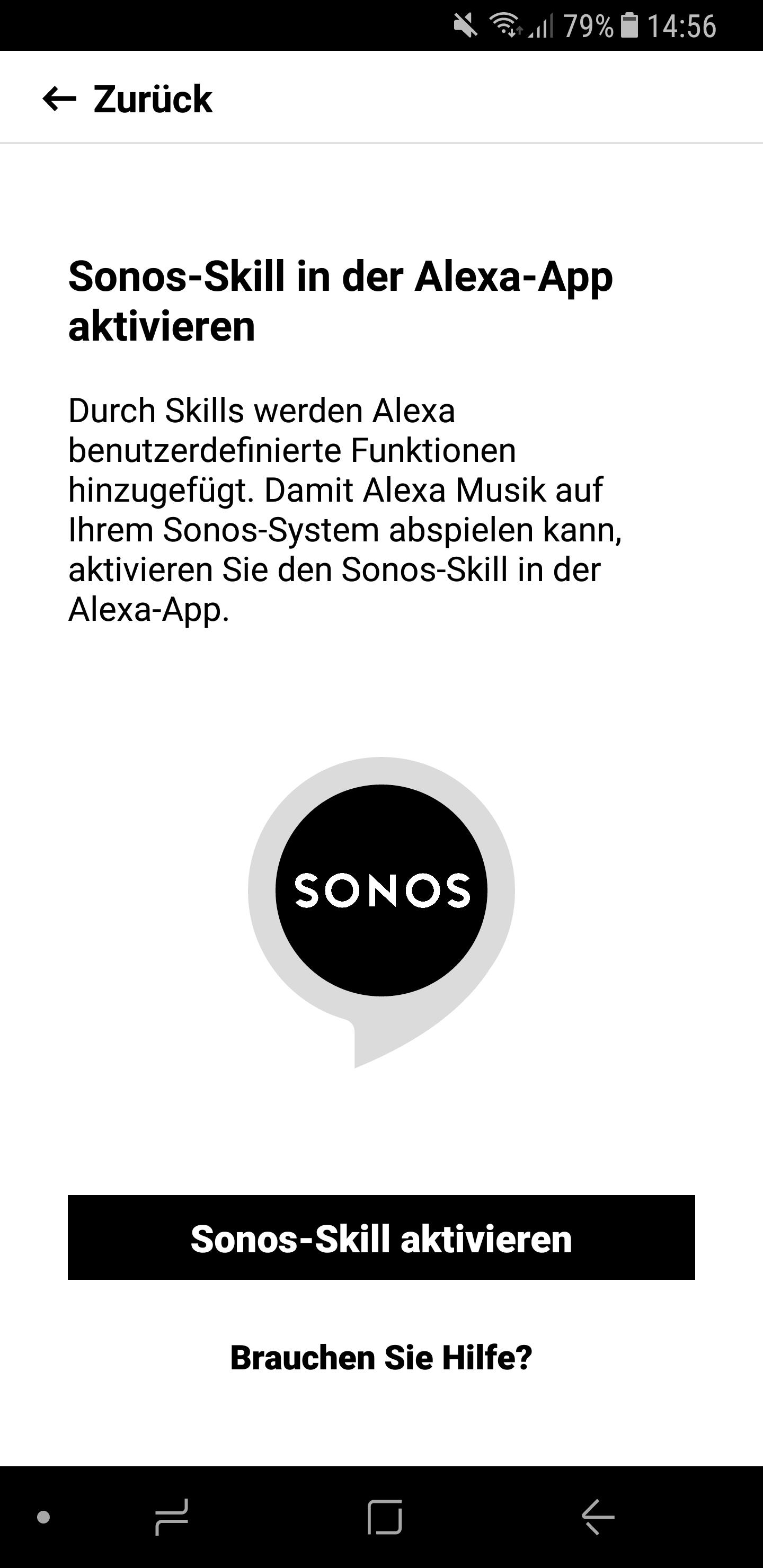 Sonos Skill einrichten 1