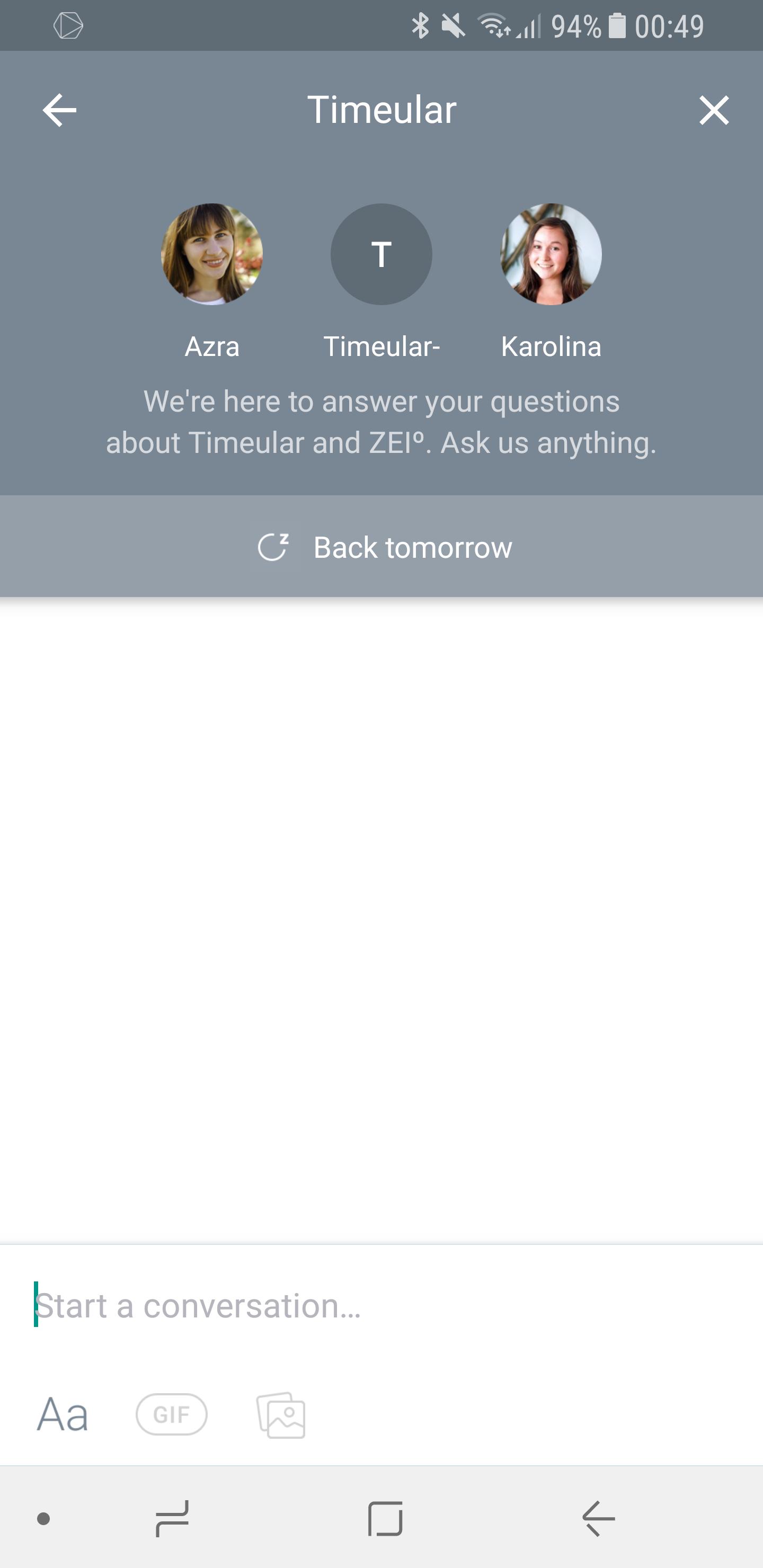 Timeular Zei° Einstellungen 6