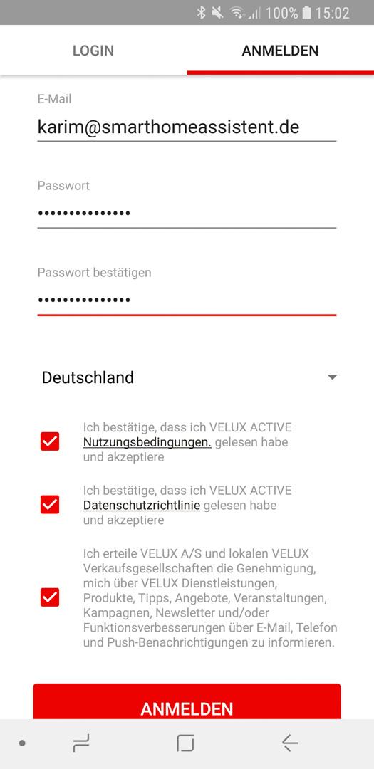 Velux Active einrichten 05