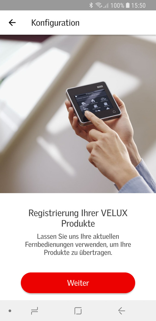 Velux KSX 100K mit KLI 310 in Smart Active einbinden 05
