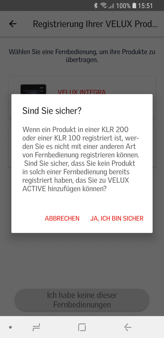 Velux KSX 100K mit KLI 310 in Smart Active einbinden 07