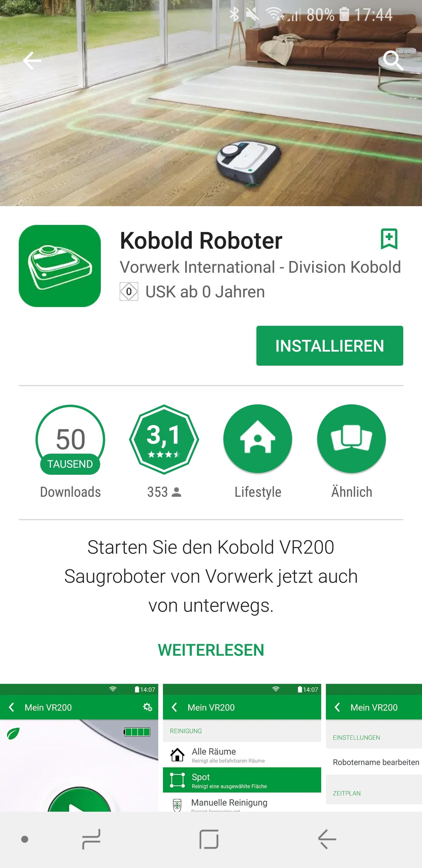 Vorwerk Kobold App installieren und Account einrichten 01
