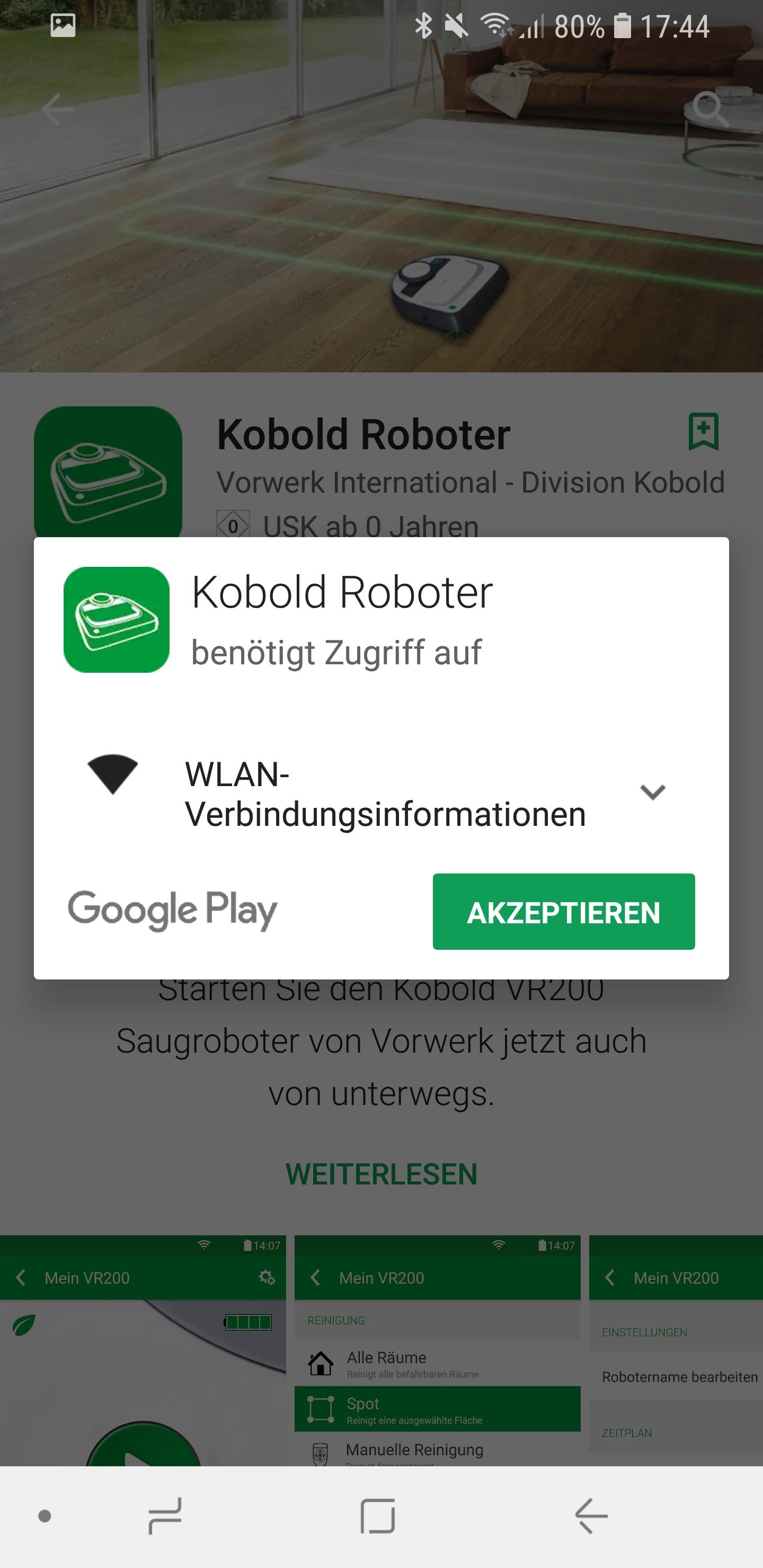 Vorwerk Kobold App installieren und Account einrichten 02