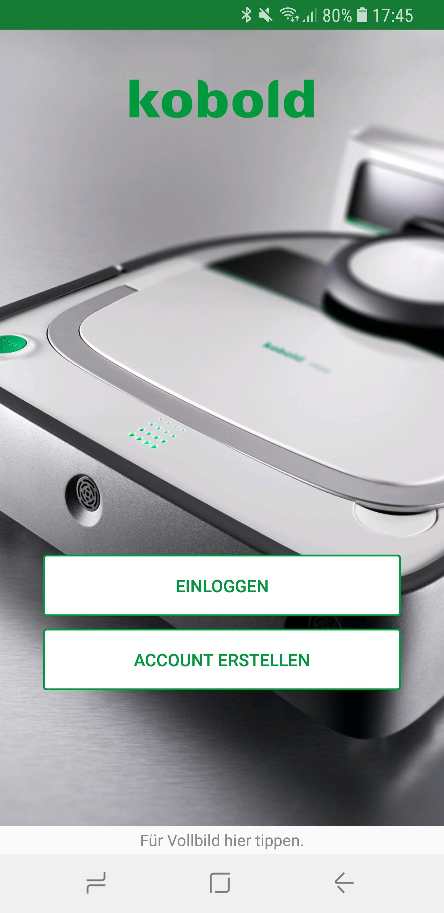 Vorwerk Kobold App installieren und Account einrichten 03
