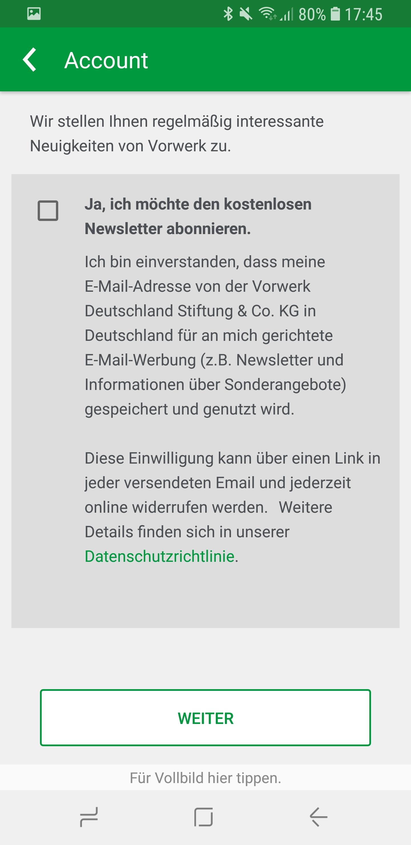 Vorwerk Kobold App installieren und Account einrichten 07